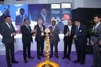 (L – R) Mr. Yogesh Mudras, Managing Director, UBM India, Shri H.R. Jagannath, CEO, Air India Engineering Services Ltd, Mr. Mike Robinson, Chief Executive, British Safety Council, Shri Lalit Gabhane, Director-General, National Safety Council, Mr. Hemant Sapra, President, Safety Appliances Manufacturers Association (SAMA), Mr. Pankaj Jain, Group Director, UBM India. Key Dignitaries at Lamp lightening ceremony of OSH India 2018 at Bombay Exhibition Centre, Goregaon Mumbai. (PRNewsfoto/UBM India Pvt. Ltd.)