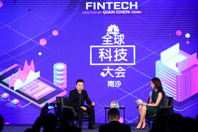 Jay Wenjie Xiao, CEO of LexinFintech, speaks at CNBC's East Tech West conference in Guangzhou, China, on November 28.