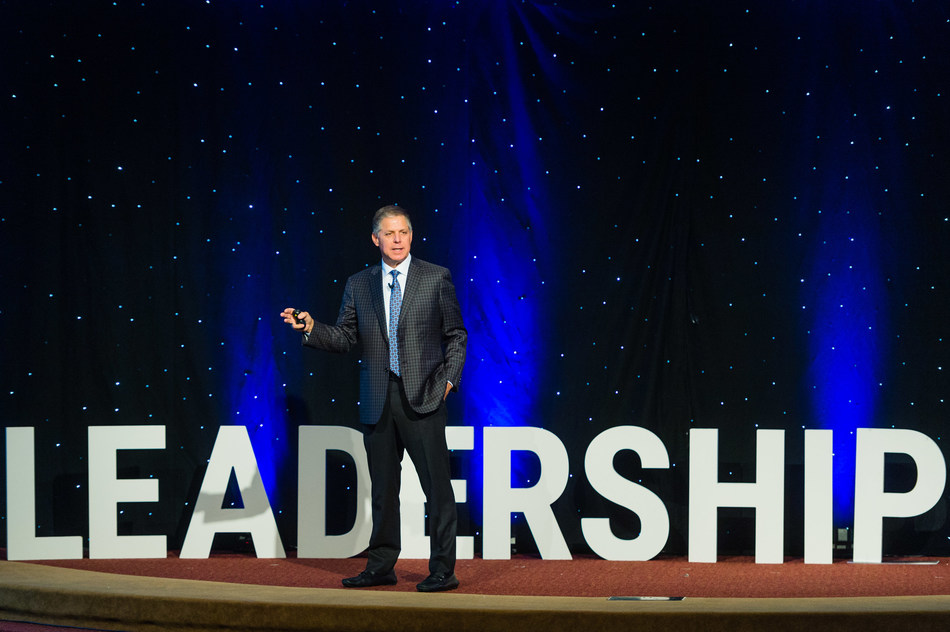 Rob Siegfried, Founder and CEO of The Siegfried Group, LLP addresses the crowd at recent Siegfried Youth Leadership Program event.