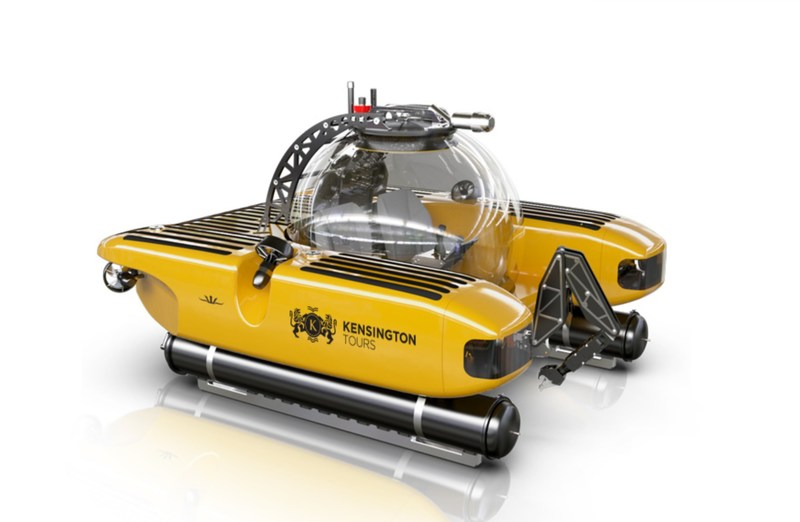 Triton 1000/2 research vessel – Kensington Tours branded (CNW Group/Kensington Tours)