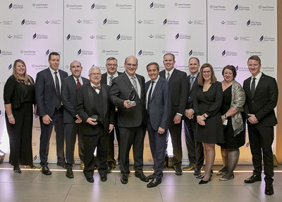 Cooke Aquaculture Inc. wins at last night's Private Business Growth Award gala (Nov. 28). The event celebrated Canada's top 10 private businesses and was hosted by Grant Thornton LLP and The Canadian Chamber of Commerce. (CNW Group/Grant Thornton LLP)