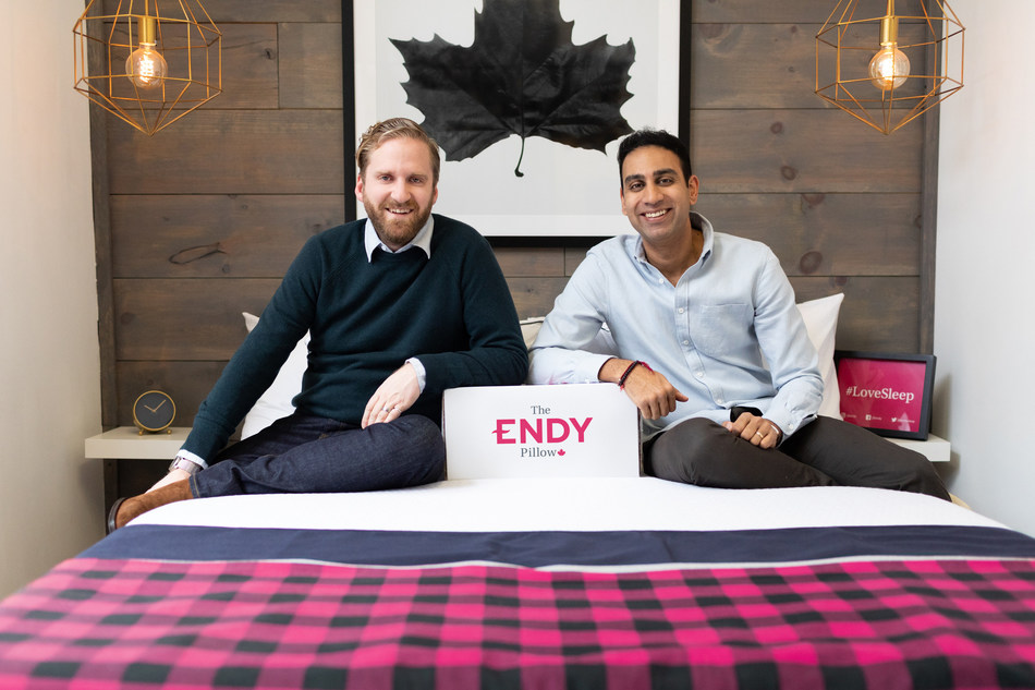 Founders Mike Gettis, CEO, (left) and Rajen Ruparell, Chairman, (right) launched Endy in 2015, and have grown it to become one of Canada's leading e-commerce brands. For more photos, visit endy.com/presskit. (CNW Group/Endy)