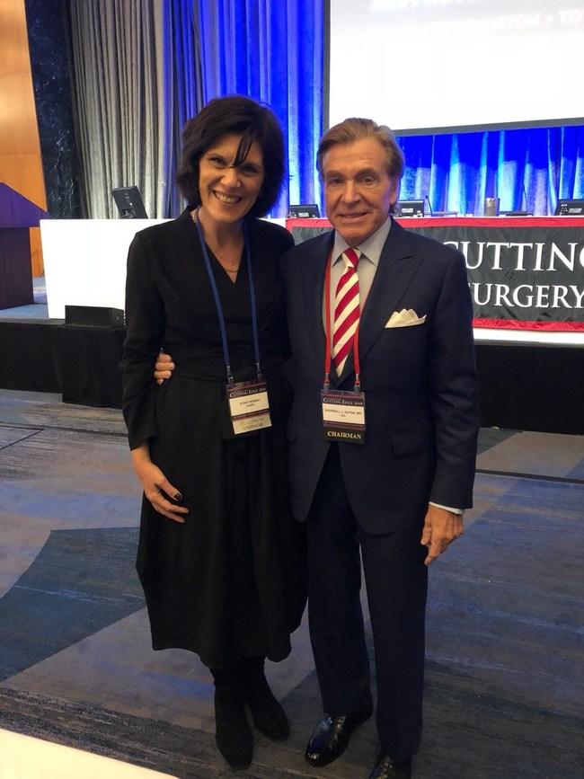 Efrat Roman, EZbra CEO & Dr. Sherrell J. Aston onsite at the Aston Baker Cutting Edge Aesthetic Surgery Symposium in New York City