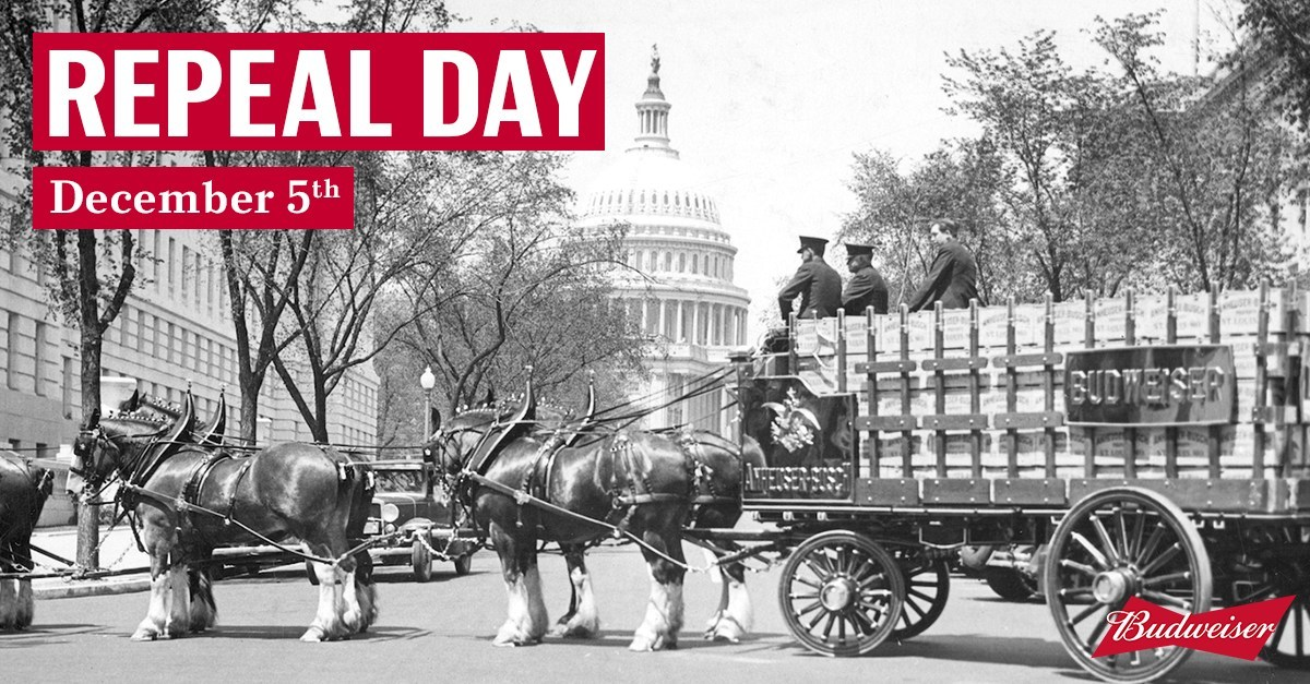 Budweiser and Jim Beam Invite America to Celebrate Repeal Day