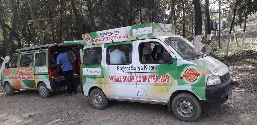 Edimpact Project Surya Kiran - Solar Digital Literacy Vehicle (PRNewsfoto/Edimpact)