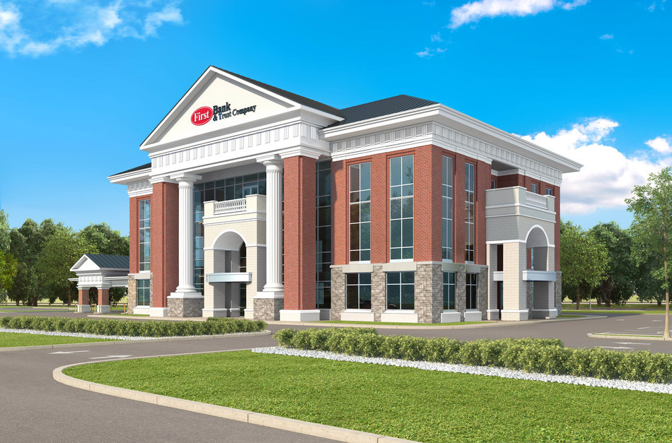 First Bank & Trust Company future corporate office scheduled to be under construction early in 2019.
