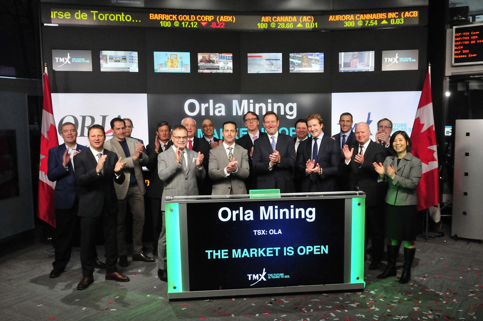 Orla Mining Ltd. Opens the Market (CNW Group/TMX Group Limited)
