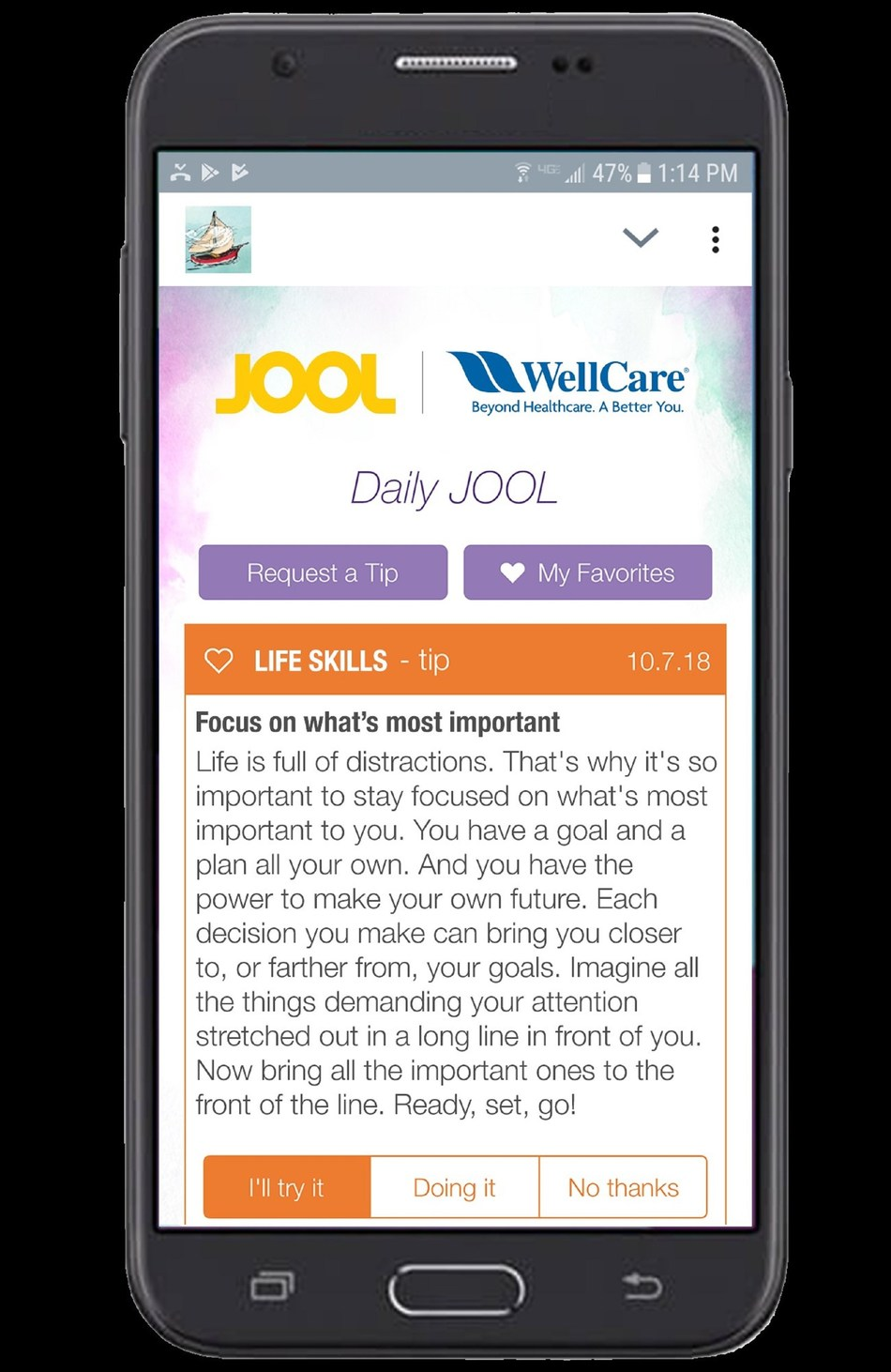 To help improve outcomes for these young adults, WellCare of Kentucky, a WellCare Health Plans, Inc. (NYSE: WCG) company, in collaboration with JOOL Health, an advanced well-being and technology company, is offering its young members a virtual life coach focused on goal-setting and self-tracking.