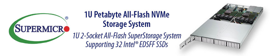 New Family of All-Flash 1U Systems support up to 1 PB of NVMe Storage