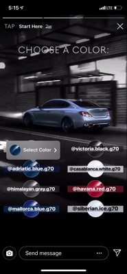Genesis Instagram Stories Automotive Video Configurator.