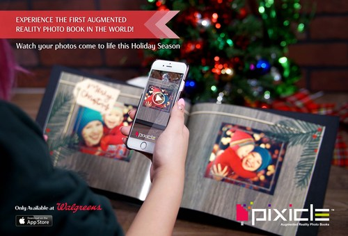 Pixicle - World's First Photobook to feature augmented reality (CNW Group/Pro Exp Media Inc.)