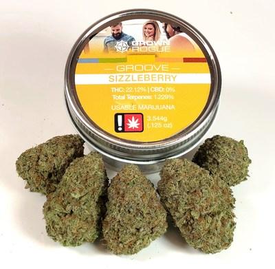 Highest quality THC CBD cannabis marijuana flower buds nitrogen-sealed in glass jars (CNW Group/Grown Rogue)