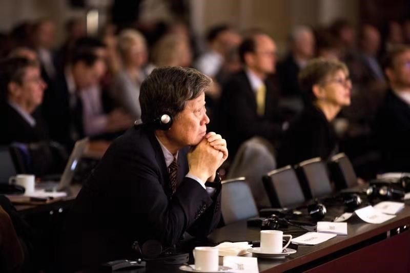 Zhang Ruimin, chairman of the Board and CEO of Haier Group, is the only Chinese entrepreneur invited to attend the Global Peter Drucker Forum in Vienna, Austria on Nov. 30. [Photo courtesy of Haier]