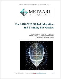 Cover of Metaari's New Global Education and Training Bot Market Report