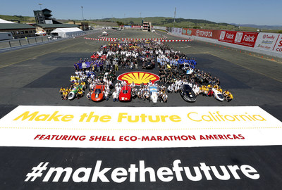 Participants of the 2018 Shell Eco-marathon at Make the Future California, held at Sonoma Raceway.