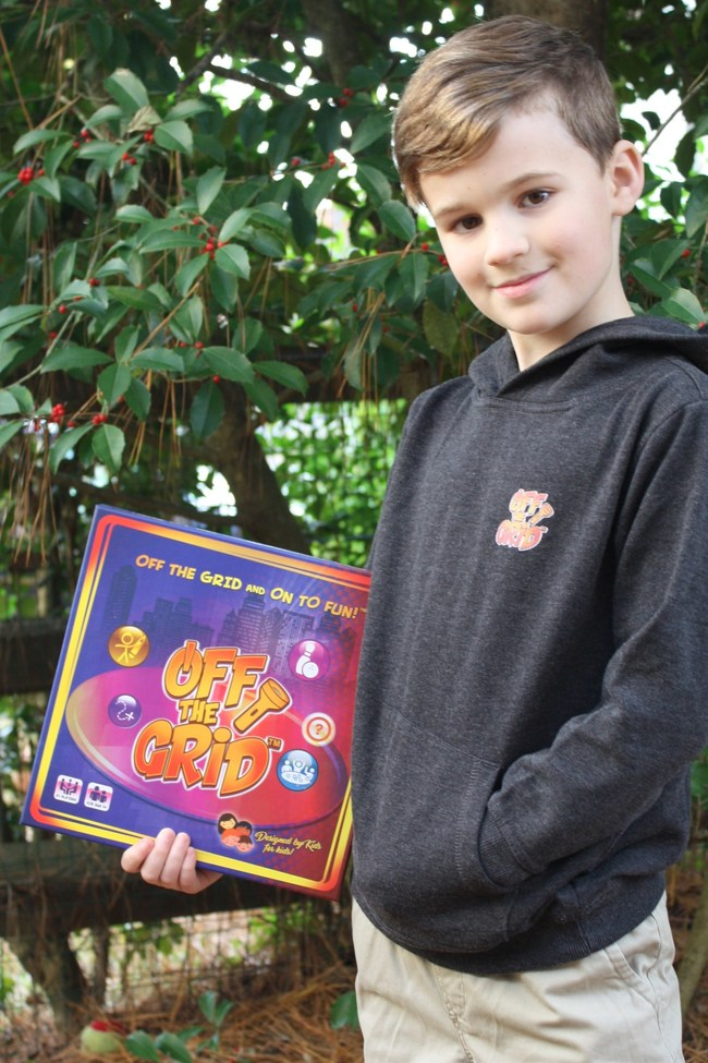 Off The Grid™ Board Game - Developed by 9-year-old Brian Joiner, flipping the switch on new children's game. Get Off The Grid and On To Fun™!