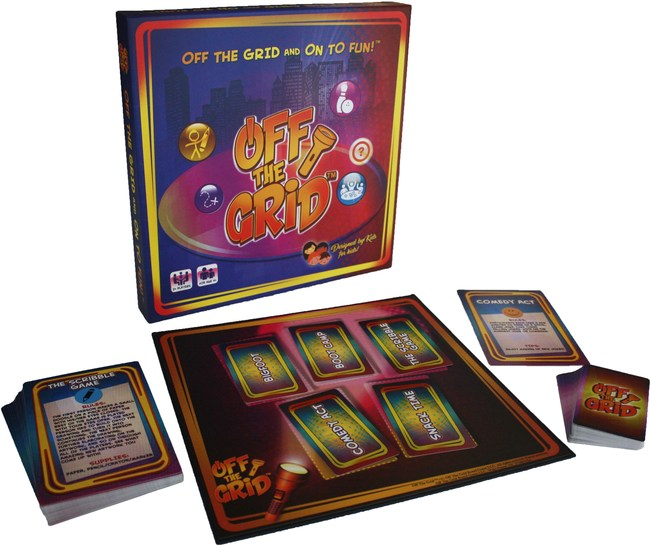 Off The Grid™ Board Game -- Recommended by childhood educators. Promotes imaginative and interactive play! Use your creativity and interact with real people instead of computers and screens. Get Off The Grid and On To Fun™!