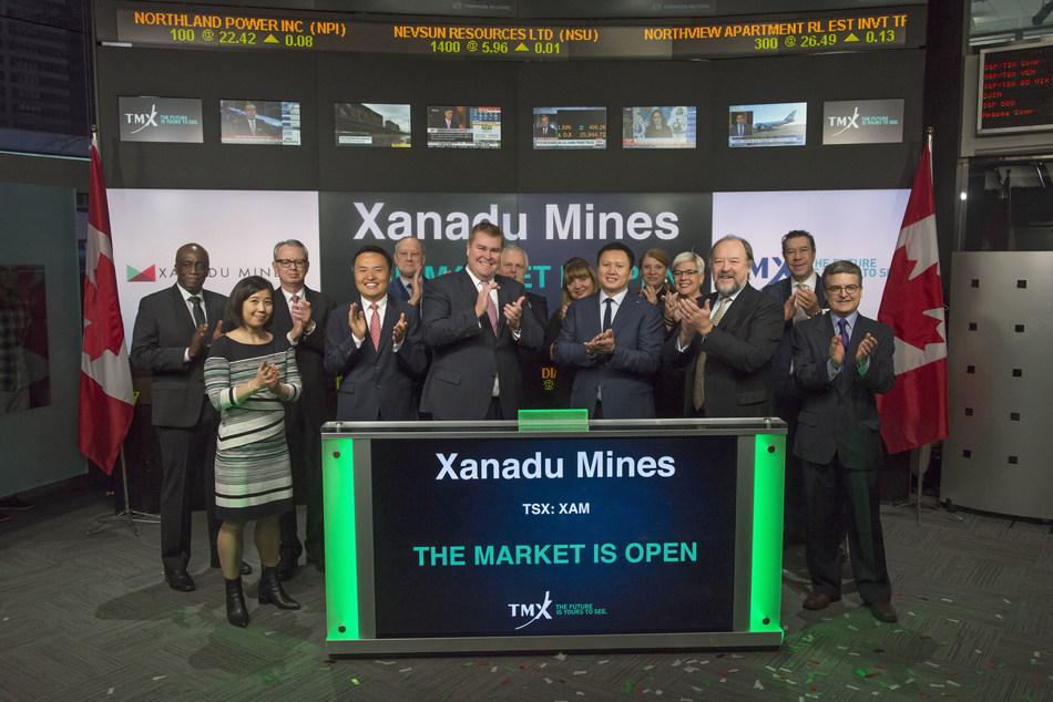 Xanadu Mines Ltd. Opens the Market (CNW Group/TMX Group Limited)