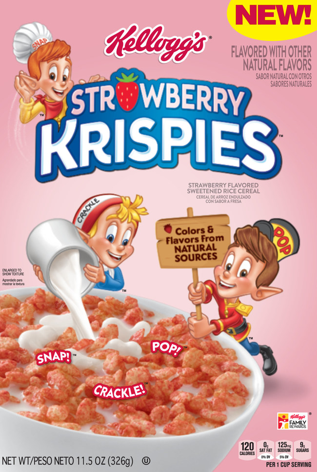 This January, Kellogg's Rice Krispies®, the beloved brand that snaps, crackles and pops, will roll out its first new flavor in more than 10 years – Kellogg's® Strawberry Krispies®.