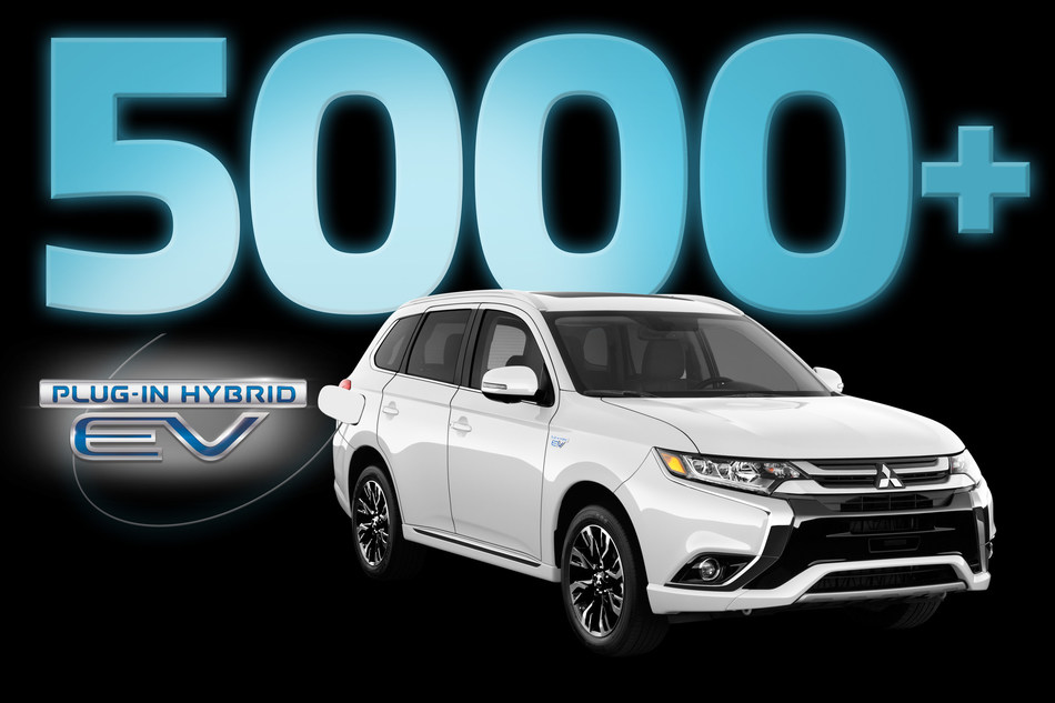 Outlander PHEV Sets Canadian Record with 5,000+ Sold (CNW Group/Mitsubishi Motor Sales of Canada)