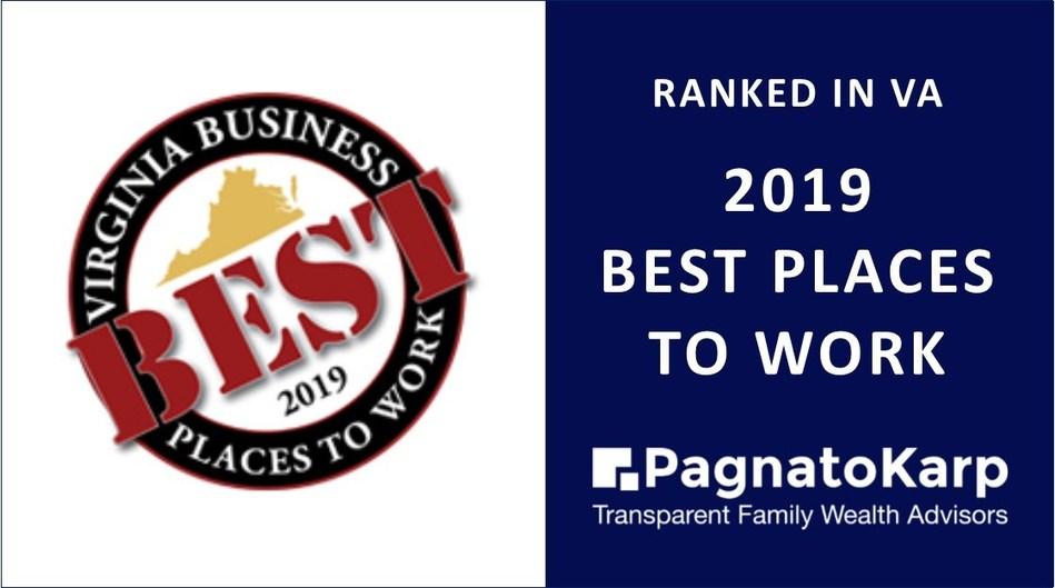 PagnatoKarp Ranked Best Places To Work in Virginia 2019
