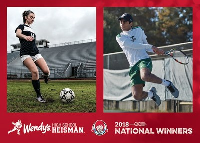 Wendy's announced Sunjay Chawla, Greenwood, Miss. and Lauren Eccles, Dandridge, Tenn. as the 2018 Wendy's Heisman National Winners. The award recognizes high school seniors who have gone to the greatest lengths to be the best student-athletes and leaders within their communities. Each winner will receive a $5,000 scholarship and trip to NYC to attend the Heisman Trophy Trust's annual college Heisman award ceremony on Saturday, Dec. 8, 2018 on ESPN. Visit www.WendysHeisman.com to find out more.
