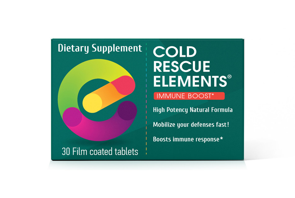 Recently introduced to the U.S. market, Cold Rescue Elements was developed to support the body's immune system and help fight cold and flu symptoms when they first occur.