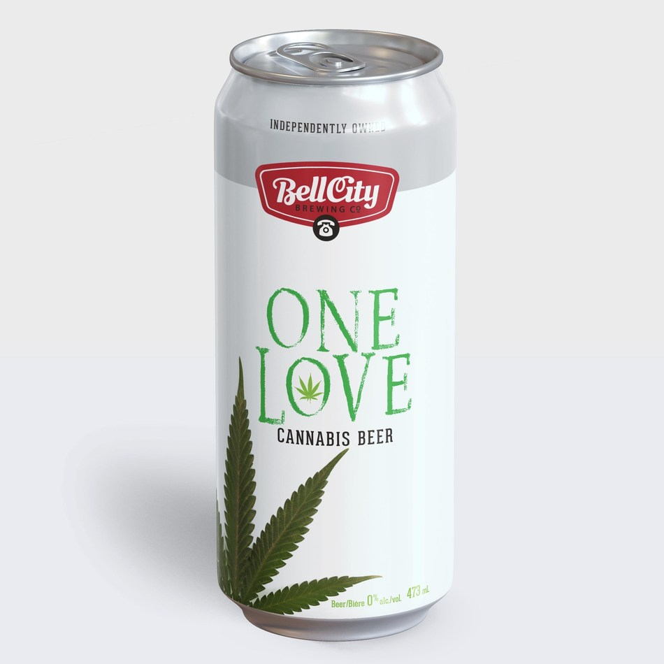 A concept rendering of Bell City Brewing's cannabis beer in partnership with Province Brands of Canada — the Canadian company developing the world's first beers brewed from the cannabis plant. (CNW Group/Province Brands of Canada)