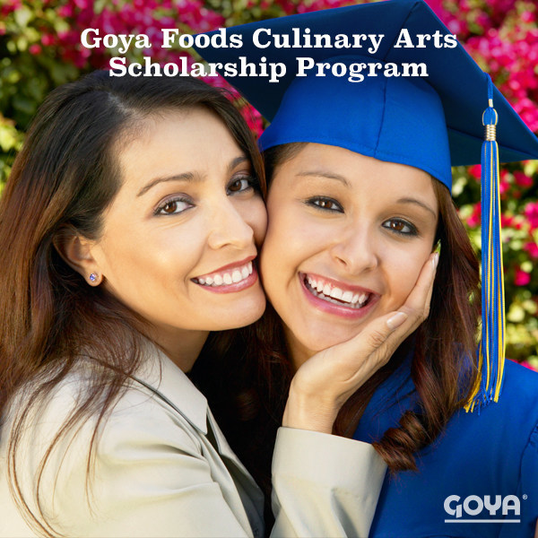 Visit www.goya.com for more information about Goya's $20,000 Culinary Arts Scholarship