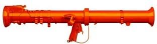 Orange Bazooka (red gun) (CNW Group/Ireland+Hall Communications Inc.)