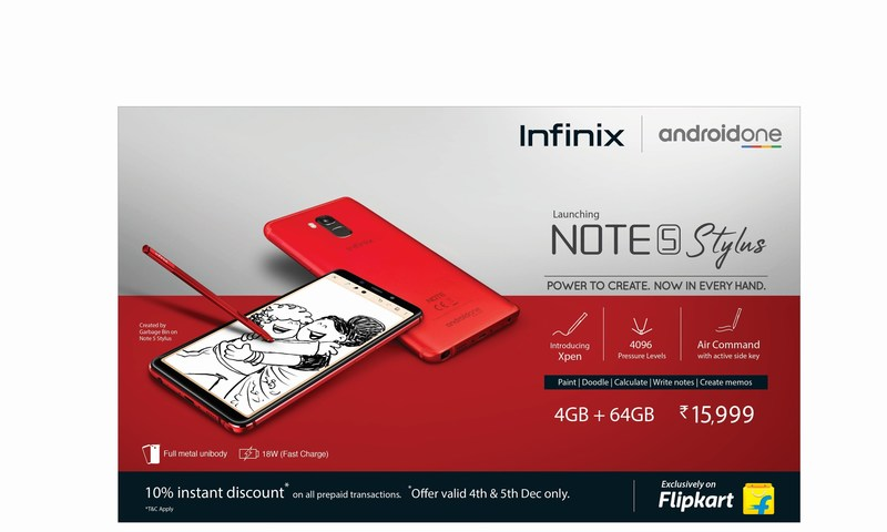Infinix Note 5 Stylus is Now Available on Flipkart - The