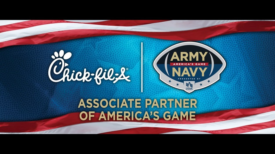 Chick-fil-A hosts pop-up restaurant for military during Army-Navy rivalry game on Dec. 8.
