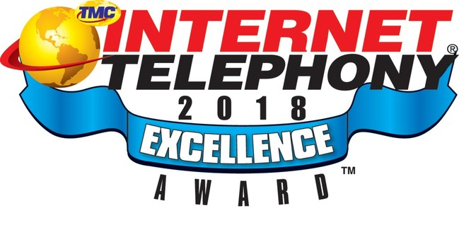 Broadvoice Wins 2018 INTERNET TELEPHONY Excellence Award
