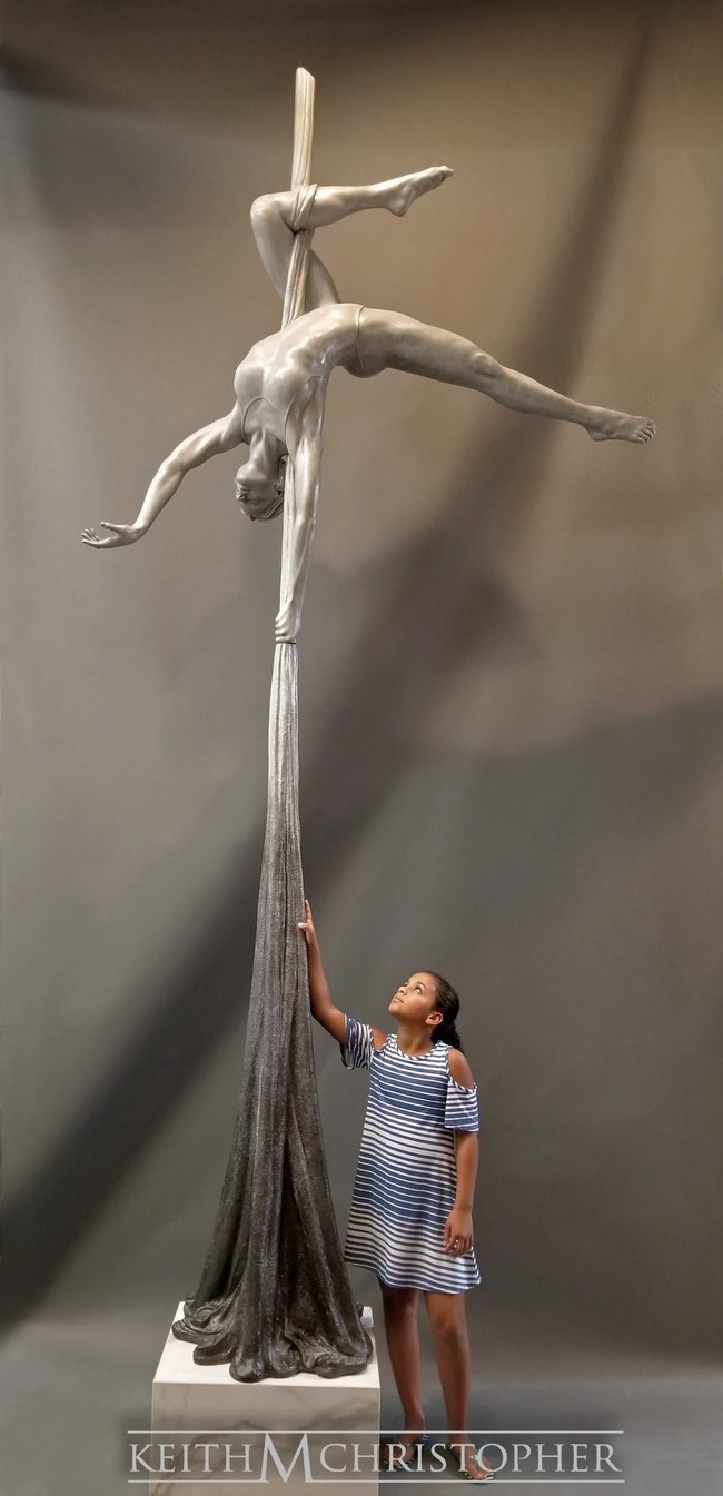 """The Aerialist"" - Keith Christopher unveils his newest addition to the Human Spirit Collective Series to showcase a Limited Edition collectible design depicting strength, form, and beauty in the human spirit."