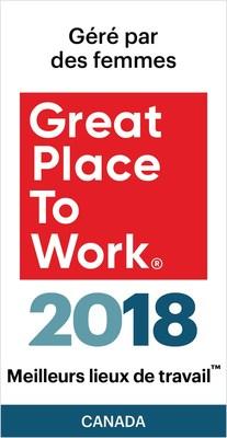 Meilleurs lieux de travailtm gérés par des femmes (Groupe CNW/VISA Canada Corporation)