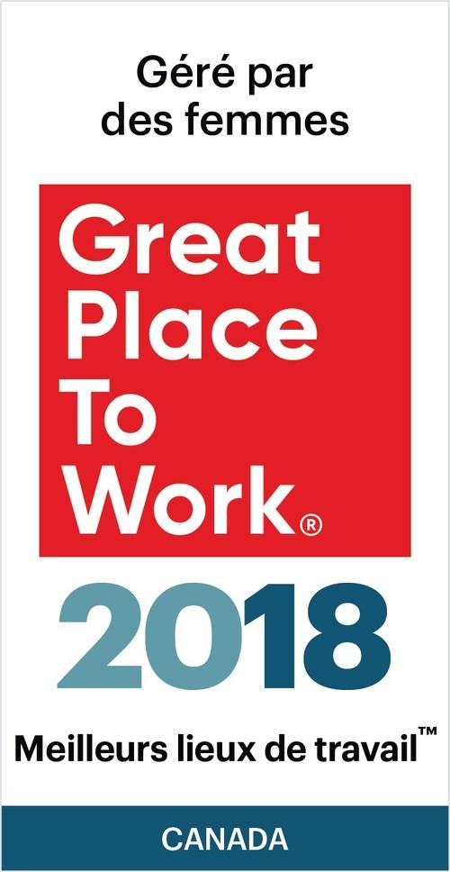 Meilleurs lieux de travail™ gérés par des femmes (Groupe CNW/VISA Canada Corporation)