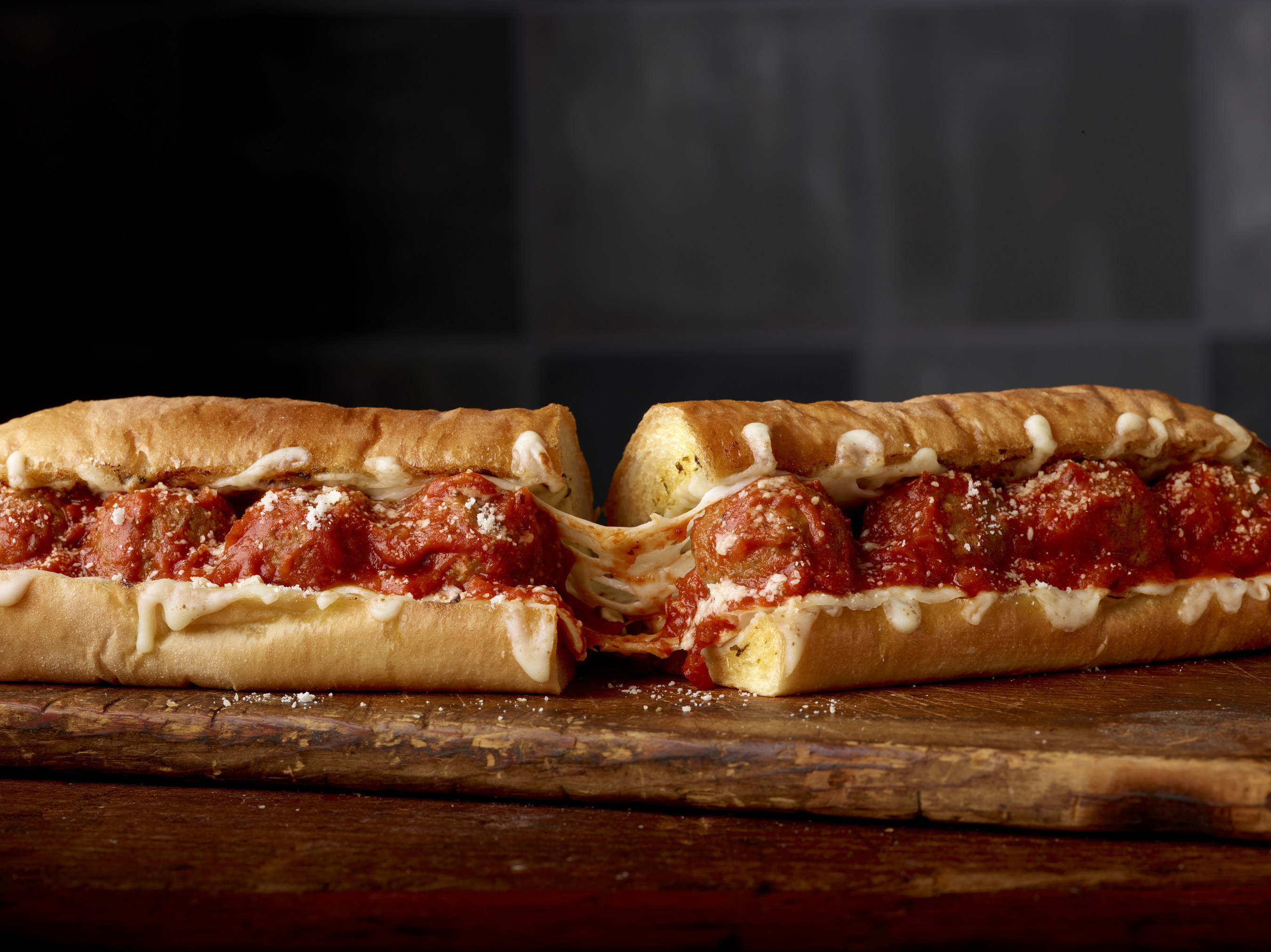 The New Subway® Ultimate Cheesy Garlic Bread provides a craveable, indulgent new twist on the classic Meatball Marinara (pictured) and Spicy Italian sandwiches. Available now through February 27th at participating U.S. restaurants.