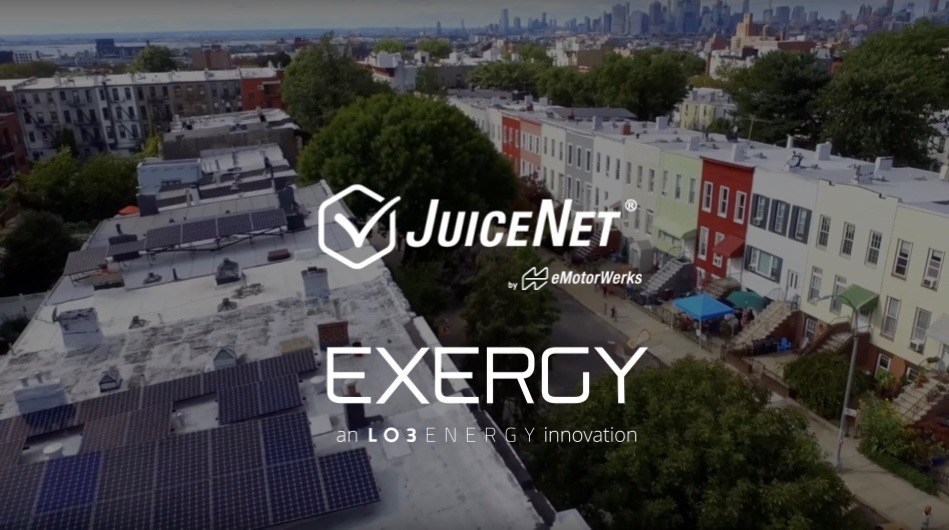 The project will connect eMotorWerks' JuiceNet EV charging platform to LO3's energy platform Exergy, activating the trading of local renewable energy between EV owners and local energy marketplaces
