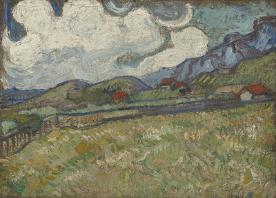 Vincent van Gogh (Dutch, 1853–1890). The Wheat Field behind St. Paul's Hospital, St. Rémy, 1889. Oil on canvas, 9 1/2 x 12 3/4 in. Virginia Museum of Fine Arts, Richmond. Collection of Mr. and Mrs. Paul Mellon, 83.26. © Virginia Museum of Fine Arts. Photo: Katherine Wetze
