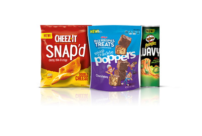 Kellogg's(r) is launching three delicious snack innovations packed with even more flavor and texture than ever before. Made to satisfy your craving no matter the occasion, the new offerings from some of Kellogg's most popular brands are Cheez-It Snap'd(r), Pringles Wavy(r) and Rice Krispies Treats Snap Crackle Poppers(r).