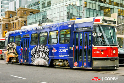 Corby has your safe ride home covered this New Year's Eve – the TTC is free all night! (CNW Group/Corby Spirit and Wine Communications)