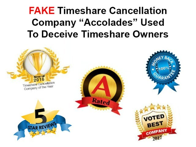 FAKE Timeshare Cancellation Company Awards and Accolades. Some even use Google's logo with 5 stars that when you click on it or goes either nowhere or to their own contact page, it does not to Google to validate a 5-star rating. For a free no obligation consultation by Leading Timeshare Attorney Susan Budowski go to www.susanbudowski.com