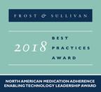 2018 North American Medication Adherence Enabling Technology Leadership Award (PRNewsfoto/Frost & Sullivan)