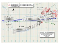 Fifteen Mile Stream Drill Plan Map and Sections (CNW Group/Atlantic Gold Corporation)