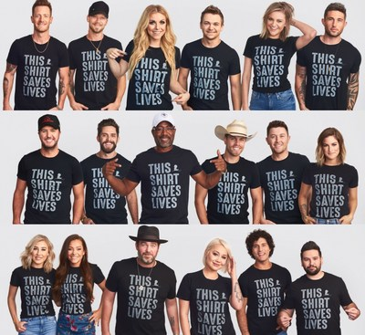 Country music artists share their #thisshirtsaveslives style in support of St. Jude Children's Research Hospital.