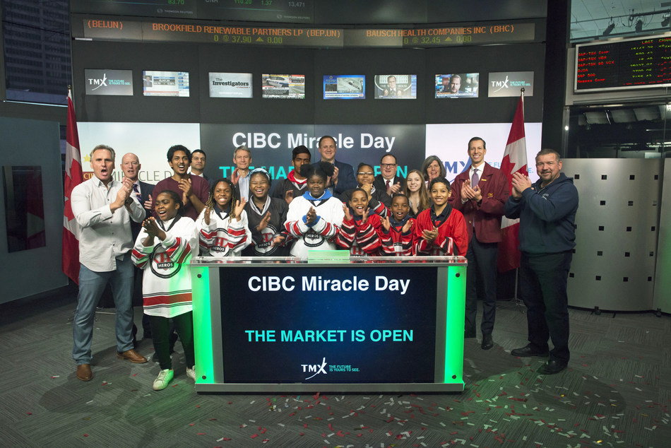 CIBC Miracle Day Opens the Market (CNW Group/TMX Group Limited)