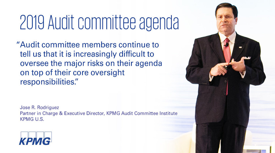 Jose R. Rodriguez, partner in charge and executive director of the KPMG Audit Committee Institute