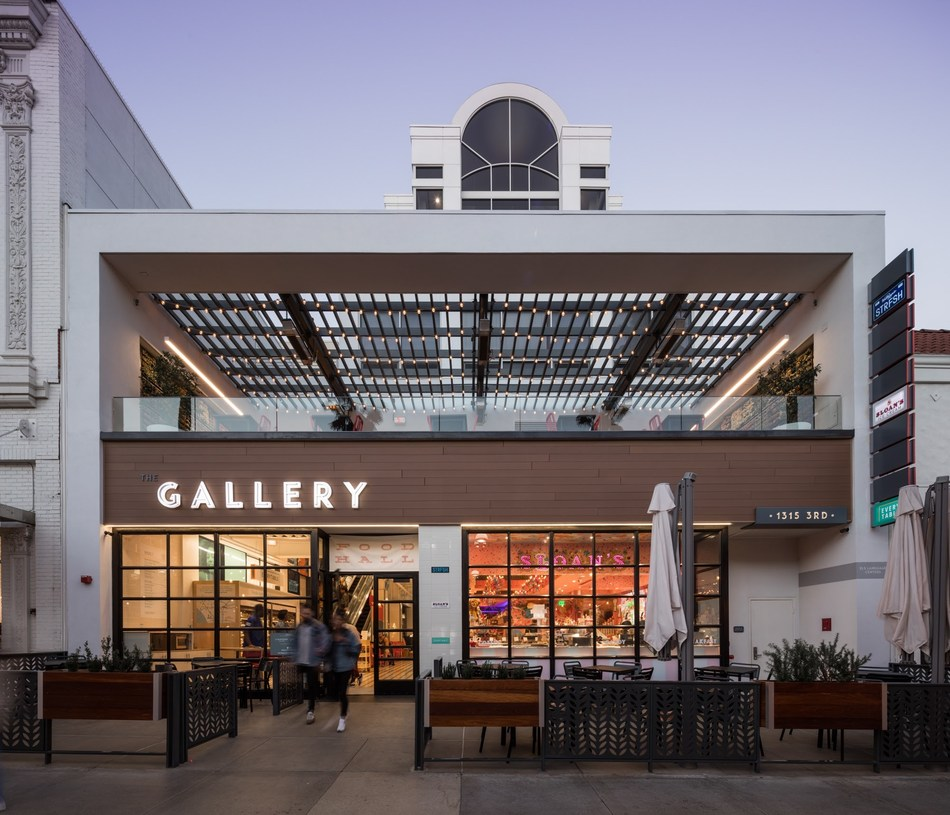 The Gallery Food Hall at 3rd Street Promenade.
