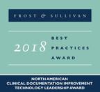 2018 North American Clinical Documentation Improvement Technology Leadership Award (PRNewsfoto/Frost & Sullivan)