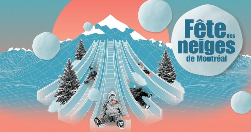 Fête des neiges de Montréal - Descentes givrées (CNW Group/SOCIETE DU PARC JEAN-DRAPEAU)